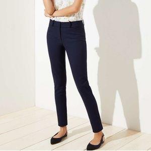 LOFT Skinny Ankle Pants in Marisa Fit Navy Blue